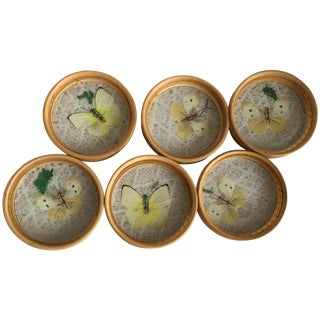 Midcentury Butterfly Coasters - Set of 6