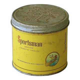 Vintage Sarreid LTD Sportsman Cigarette Tobacco Tin