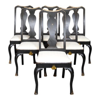 Set of Six Rococo Style Dining Chairs (#32-61)