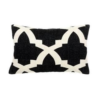 Bali Black & White Small Accent Pillow