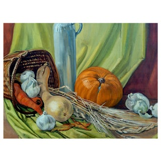Autumn Basket Painting by Dorothy Bouthillier