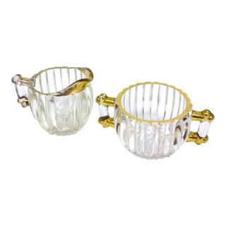 1930s Sugar Bowl and Creamer Set