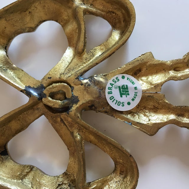Brass Ribbon Wall Hangings - A Pair - Image 8 of 9