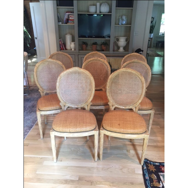 Faux Bois Dining Chairs - Set of 8 - Image 2 of 6