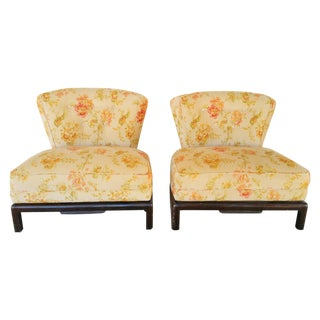 Ming Low Profile Chairs - A Pair