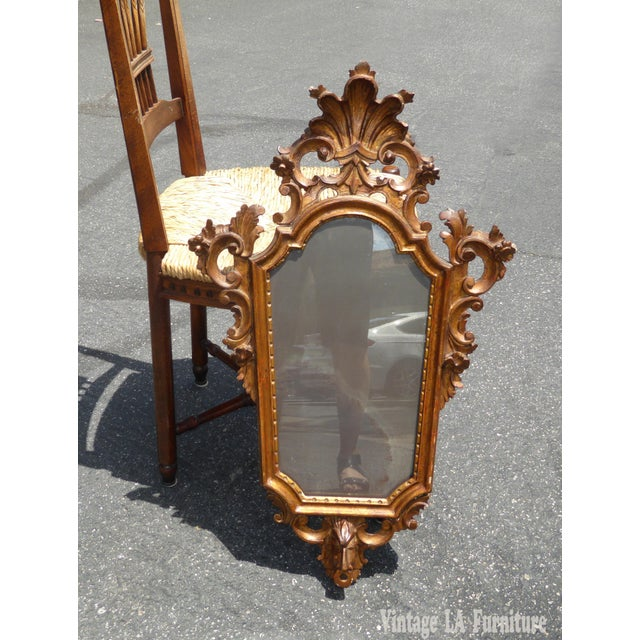 Antique Italian Rococo Giltwood Wall Mirror - Image 4 of 11