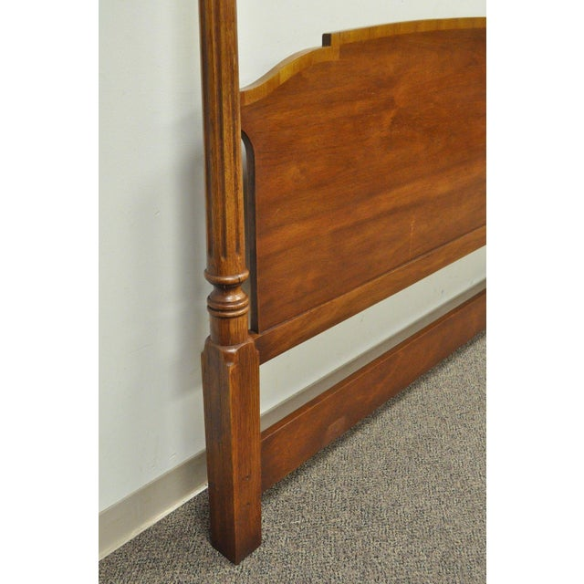 Vintage Drexel Federal Style King Size Poster Bed Headboard - Image 7 of 11