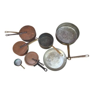 Copper Pots - Set of 8