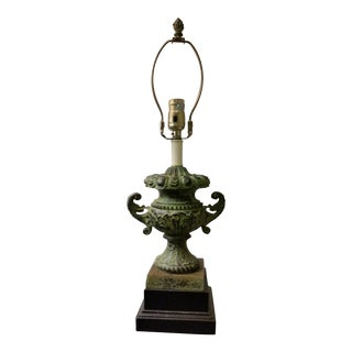 Green Neoclassical Table Lamp