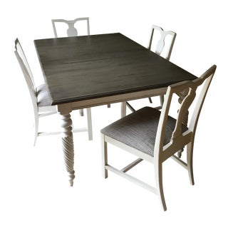 Ethan Allen Dining Table & Chairs - Set of 5