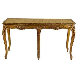 19th-C. French Gilt Bench