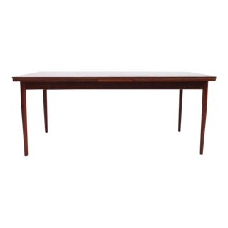 Large Rosewood Arne Vodder for Sibast Furniture Dining Table with Hidden Leaves