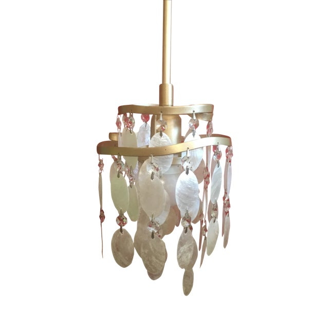 Image of Dolce Capiz Shell Mini Pendant Light