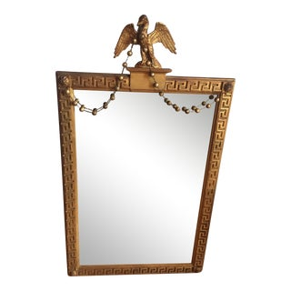 American Federal Antique Gilt Carved Eagle Mirror