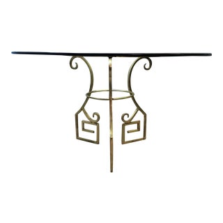 Gold Metal Greek Key Table