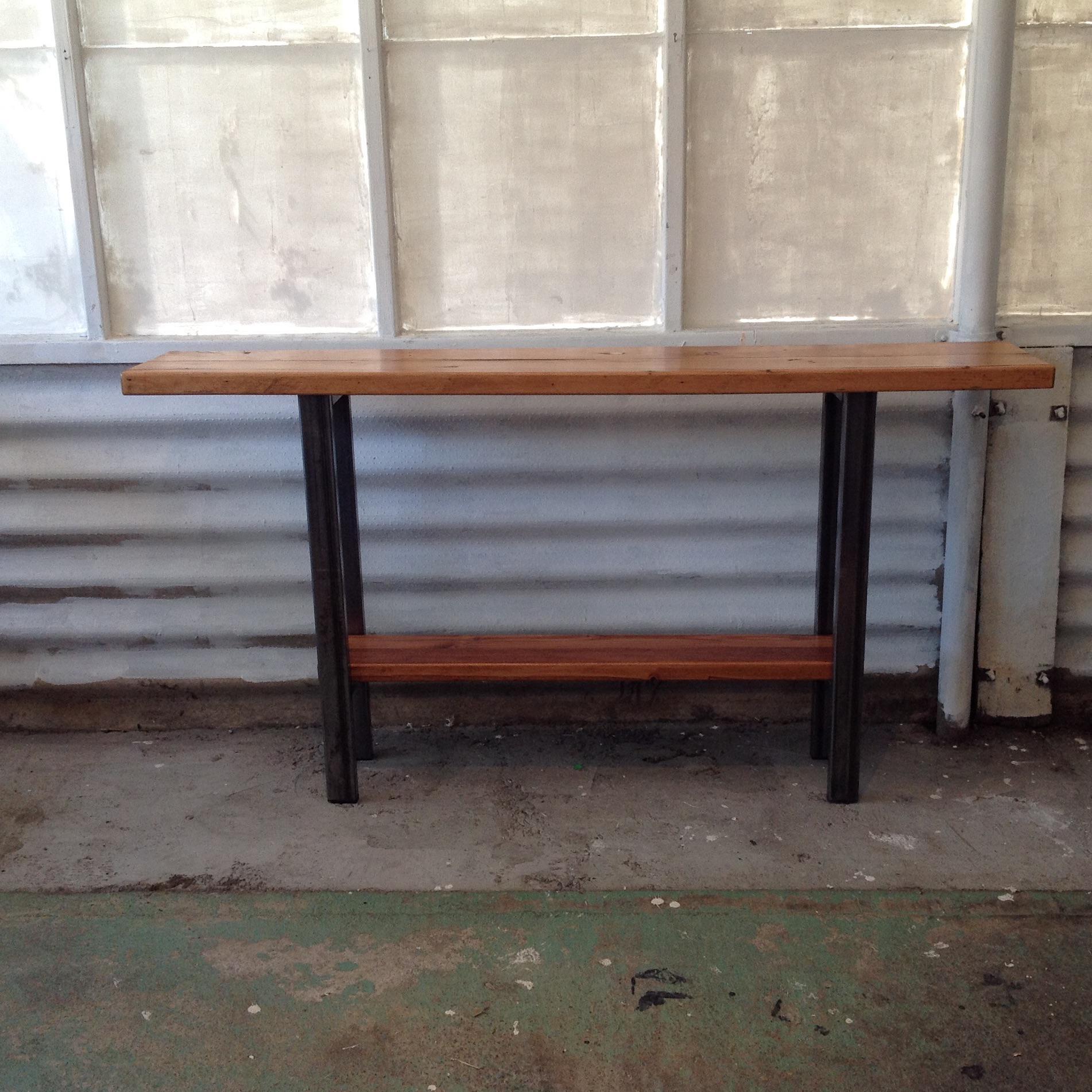 Handmade Reclaimed Wood Sofa Table