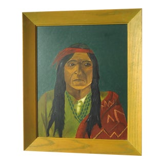 Mid-Century Native American Man Painting