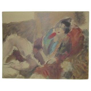 Jules Pascin Antique 'Marionette' Lithograph Print