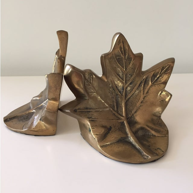 Brass Leaf Bookends - Image 5 of 5