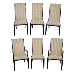 Mastercraft Burl Amboyna Dining Chairs - Set of 6