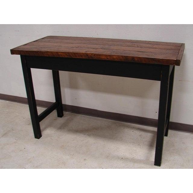 Re-Purposed Barnwood Bar Height Harvest Table Chairish