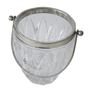 Vintage Crystal and Silver Platted Ice Bucket