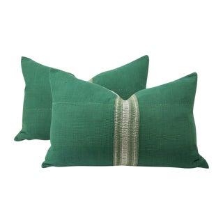 Vintage Emerald Jaipur Pillows - A Pair