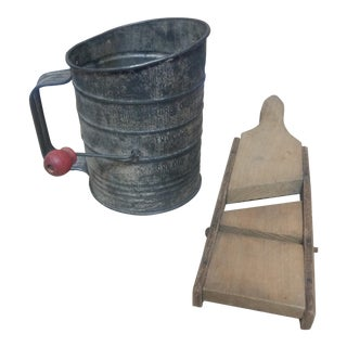 Bromwell Sifter & Vintage Shredder, 1930's - A Pair