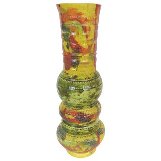 Yellow Ceramic Vase by Gary Fonseca