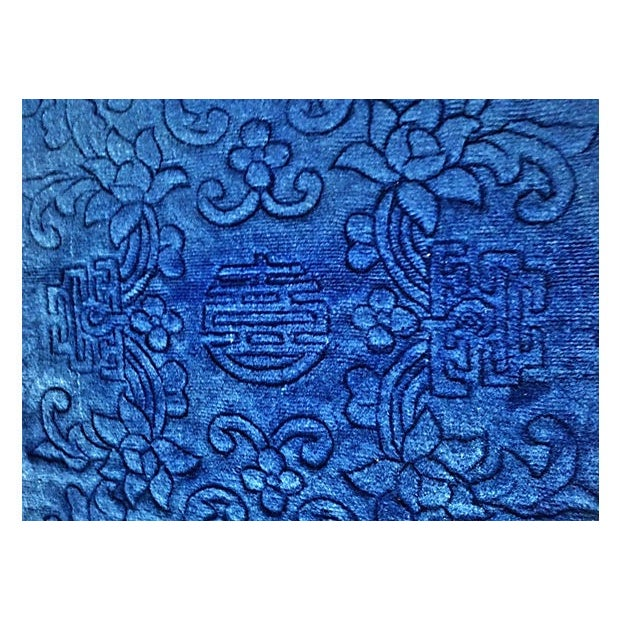 Image of Blue Chinese Rug - 2'4'' x 4'7''