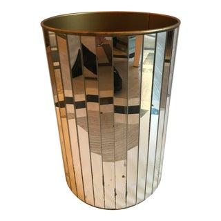 Vintage Mirrored Waste Basket