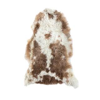 "Aydin Authentic Handmade Sheepskin Rug, Seat Cushion, Brown-White, 2'0"" x 3'0"""