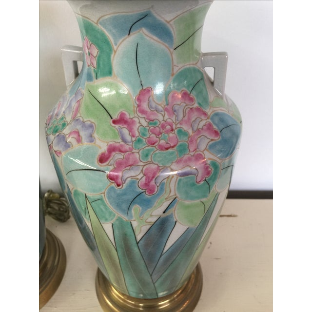 Image of Chinoserie Hand Painted Fredrick Cooper Lamps - 2