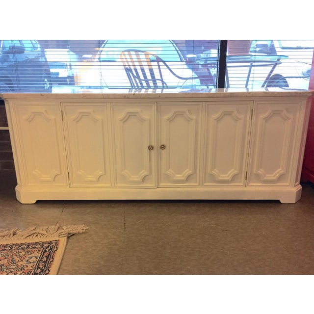 Marble Topped Small Credenza - Image 2 of 6