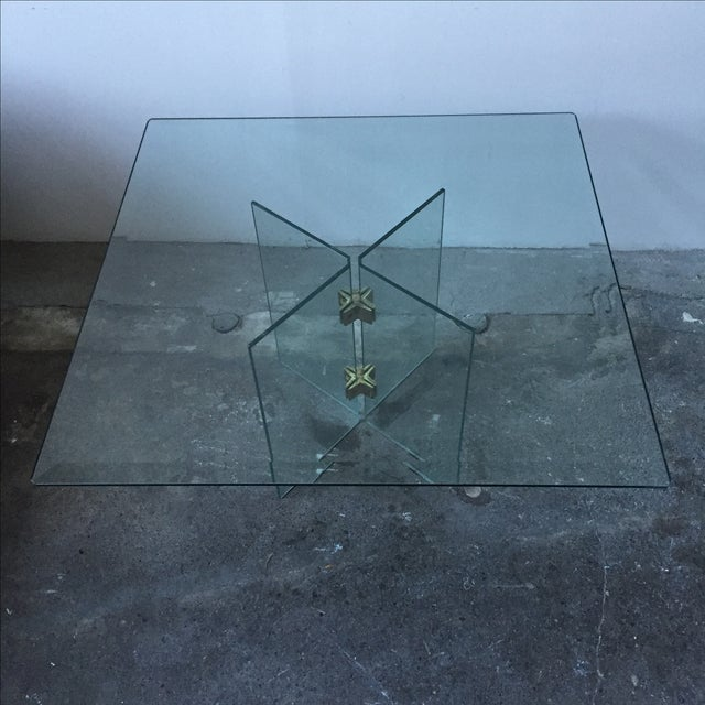 Leon Rosen Pace Collection Glass Coffee Table - Image 4 of 10
