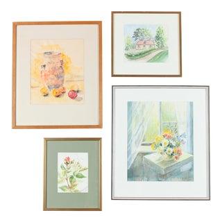 Watercolor Gallery Wall Art Paintings - Set of 4