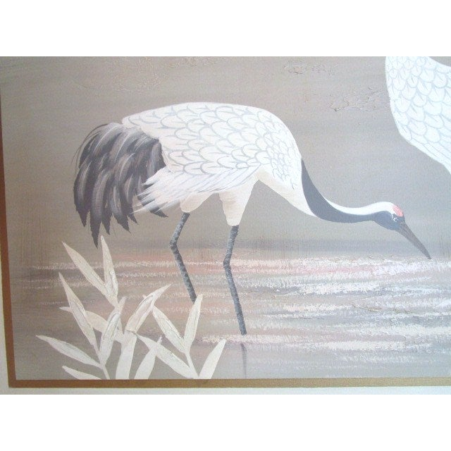 "Pastel ""2 Cranes"" Painting - Image 3 of 6"