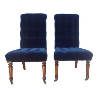 Barclay Butera Velvet Tufted Dining Chairs - Pair