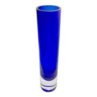 Badash Crystal Cobalt Blue Bud Vase