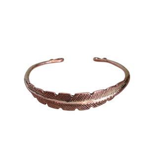 Unique Copper Feather Bangle