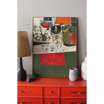 Image of 1960's Abstract Expressionist Painting on Wood