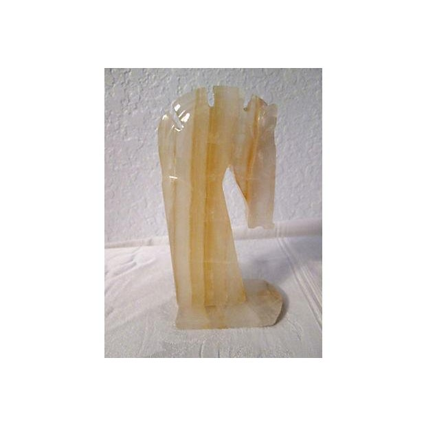 Midcentury Crystal Onyx Horse Head Bookends - Pair - Image 4 of 6