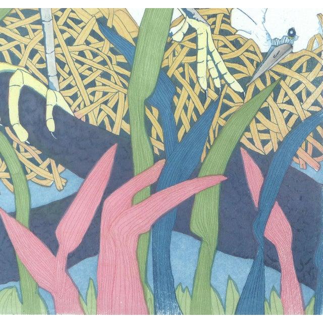 "Judith Hall ""The Rookery"" Intaglio Print - Image 5 of 10"