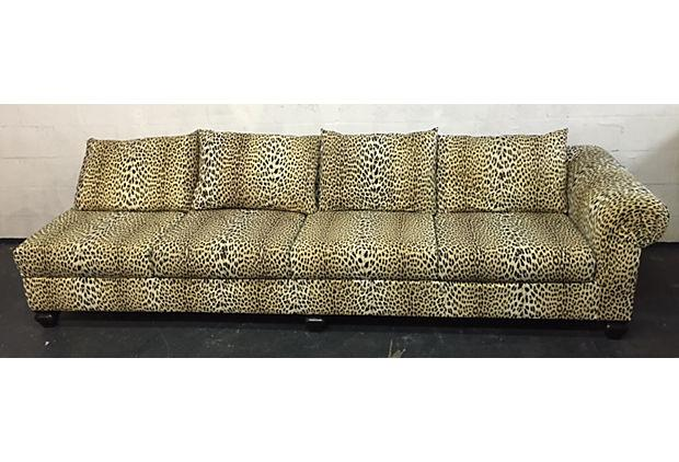 Beautiful Leopard 2 Piece Sectional Sofa   Image 4 Of 9