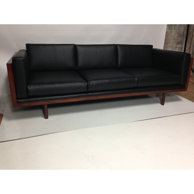 Image of Rosewood Tuxedo Sofa by Milo Baughman