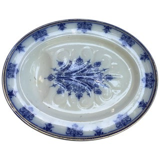 19th-C. Blue & White Meat Platter
