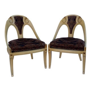Michael Taylor for Baker Furniture Spoon Back Chairs - A Pair