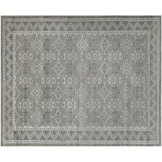 Contemporary Silver-Gray Rug - 4′ × 6′2″