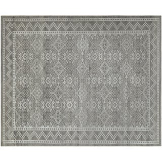 Contemporary Silver-Gray Rug - 4′ × 6′2″