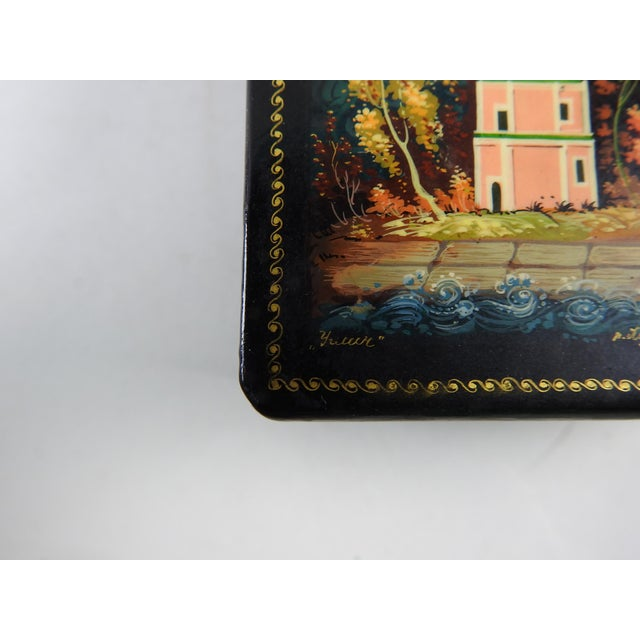 Image of Hand Painted Russian Lacquer Box
